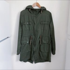 Boutique brand army green jacket size large